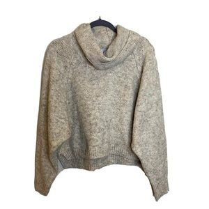 Sincerely JULES sweater oversized cowl neck beige